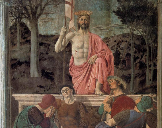 In the eyes of Piero's resurrected Christ