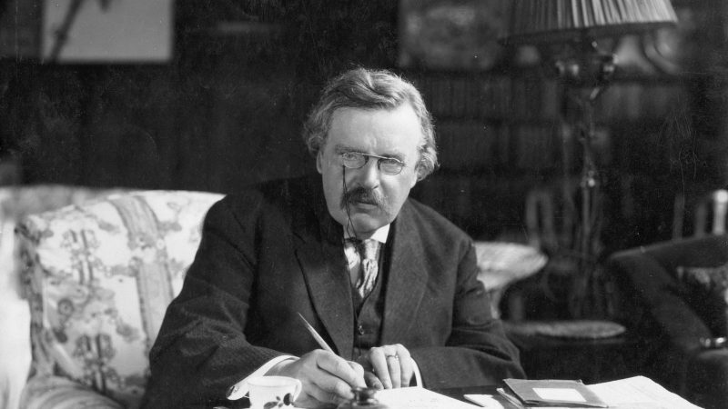 Chesterton on being a poet